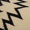 "Ivory/Black Southwestern Stripe Throw Pillow 18""x18"" - Rizzy Home - image 3 of 4"