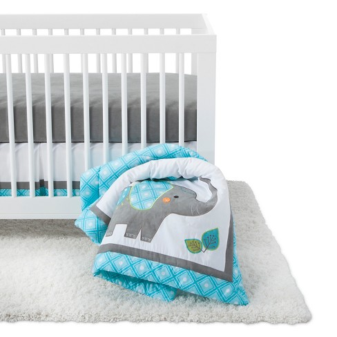 Sweet Jojo Designs Crib Bedding Set Mod Elephant 11pc