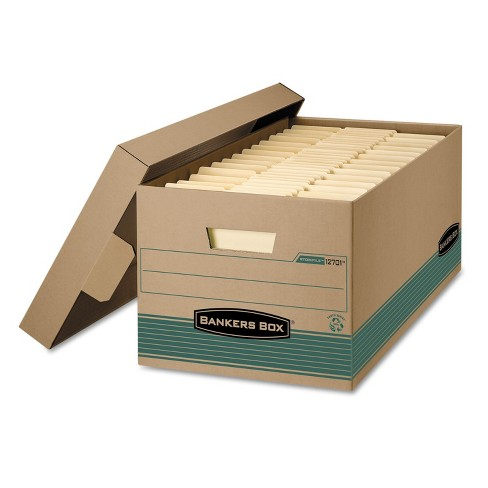 Bankers Box STOR/FILE Extra Strength Storage Box Letter Lift-Off Lid Kft/Green 12/Carton 1270101 - image 1 of 1