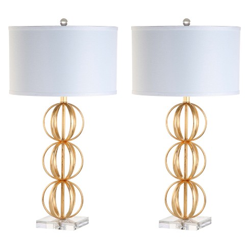 "Annistyn Table Lamp Brass 15.5""x15.5"" (Set of 2) (Includes Energy Efficient Light Bulb) - Safavieh - image 1 of 4"
