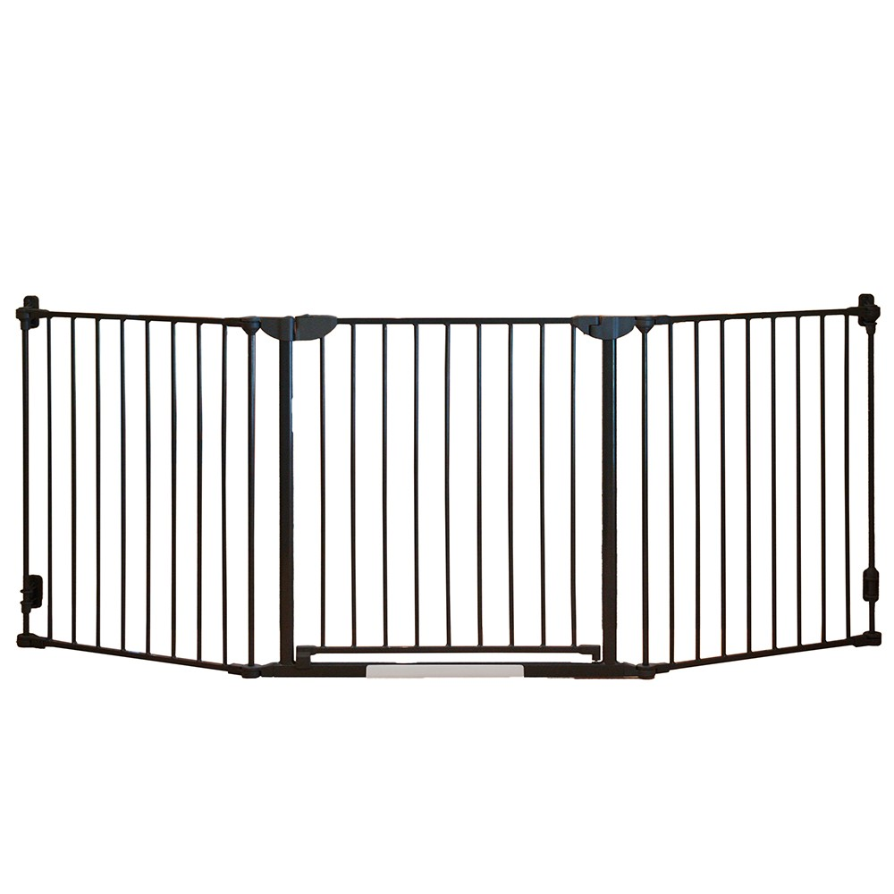 Image of Qdos Construct-A-SafeGate Baby Gate - Slate Gray, Grey Gray