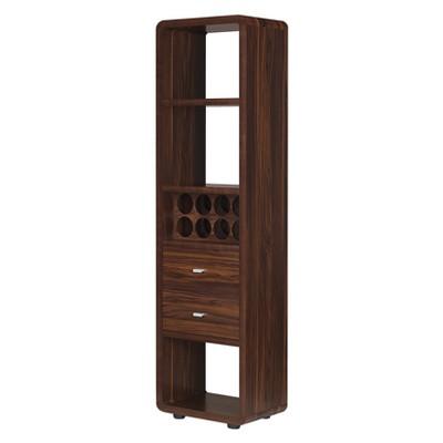 Iohomes Sierri Contemporary Wine Cabinet Dark Walnut - HOMES: Inside + Out