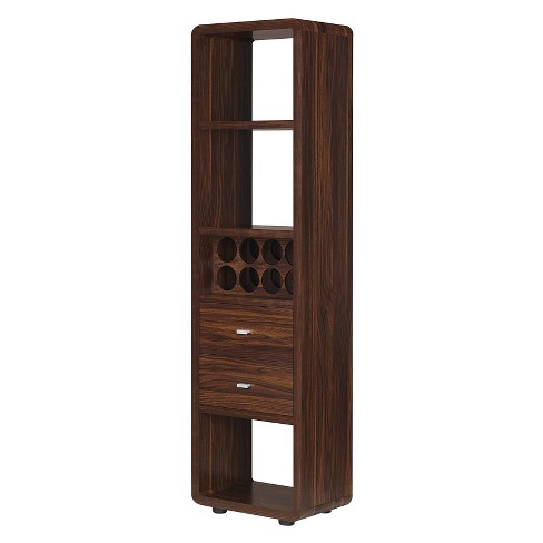 Iohomes Sierri Contemporary Wine Cabinet Dark Walnut - HOMES: Inside + Out - image 1 of 5