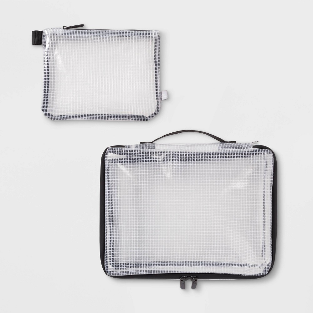 Image of 2pc Clear Packing Cube Set - Made By Design