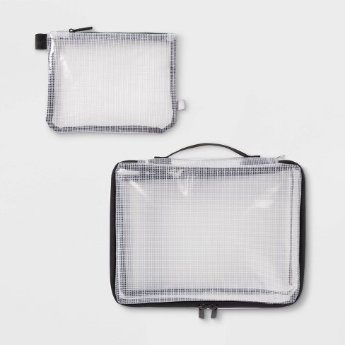 2pc Clear Packing Cube Set - Made By Design™ - image 1 of 4