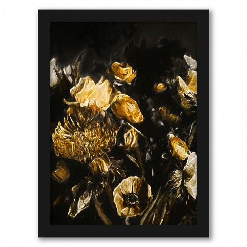 Americanflat Dark Floral Ii By Chaos Wonder Design Black Frame Wall Art Target