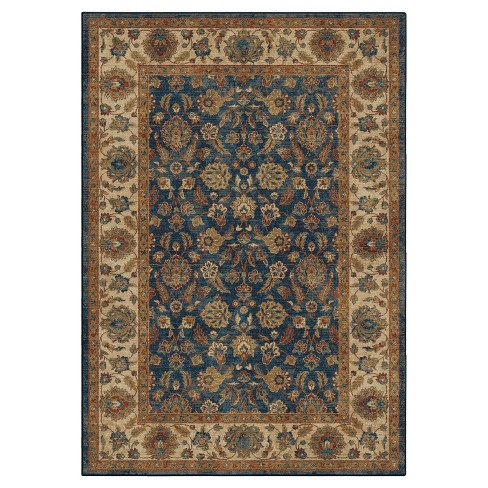 Mosaic Border Entressed Woven Rug - Orian Woven Rugs - image 1 of 3