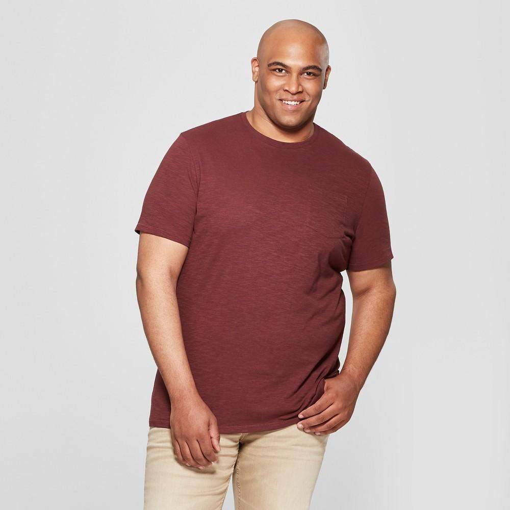 Men's Big & Tall Short Sleeve Pocket Crew Neck T-Shirt - Goodfellow & Co Berry Cobbler 3XB