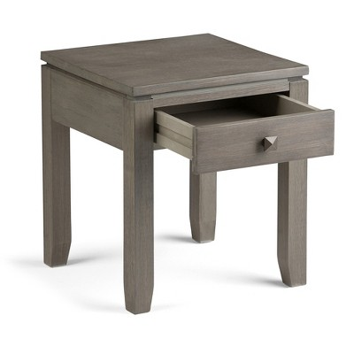 Cosmopolitan End Side Table   Farmhouse Grey   Simpli Home : Target