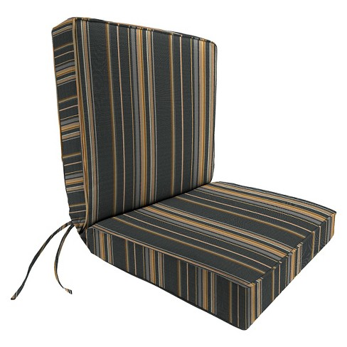 Jordan Boxed Edge Chair Cushion - Charcoal - image 1 of 1