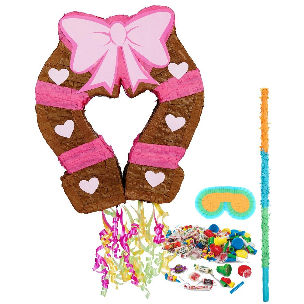 Cowgirl Pinata Kit Pink, Party Decorations and Accessories