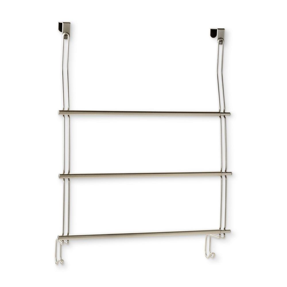 Image of Expandable Over-The-Door Towel Rack Over-The-Door Hook Silver - Threshold