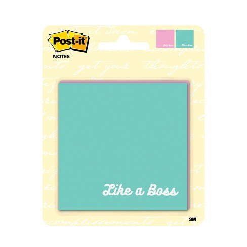 """2ct Post-it Note Pads 3"""" x 3"""" Inspirational Phrases - image 1 of 3"""