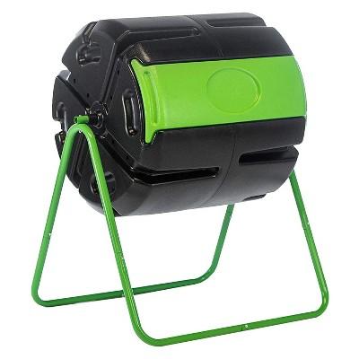 FCMP Outdoor HF-RM4000 HOTFROG Roto 37 Gallon BPA Free Plastic Rotating Tumbling Spinning Composter Compost Bin