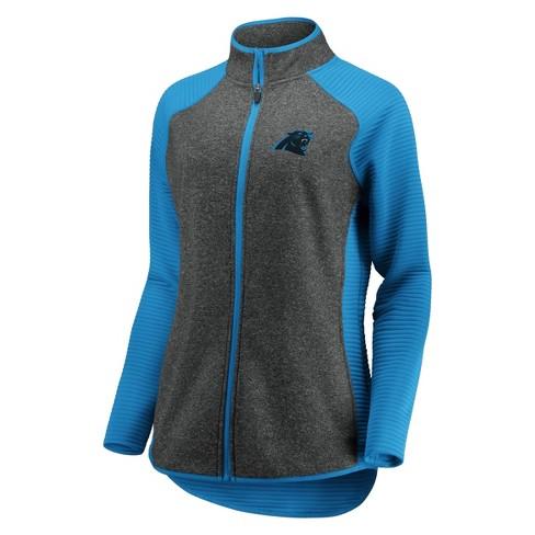 NFL Carolina Panthers Women's Draft Leader Zip-Up Fleece Sweatshirt - Gray  - image 1 of 3