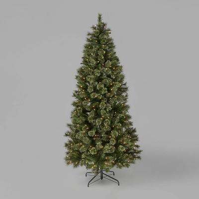 7ft Pre-Lit Cashmere Artificial Christmas Tree Clear Lights - Wondershop™