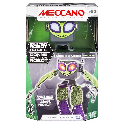 Meccano Erector - Micronoid - Green Switch, Programmable Robot Building Kit - image 1 of 6