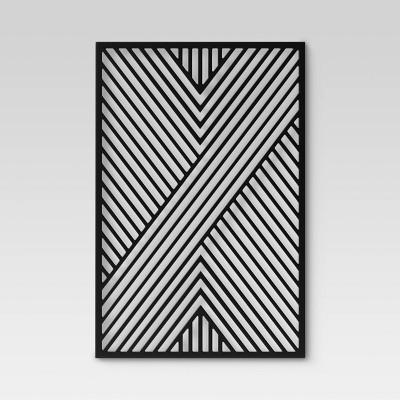 Geometric Wood Wall Panel Black - Project 62™