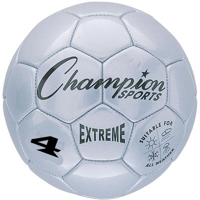 Extreme Series Size 4 Soccer Ball, Silver