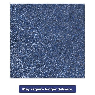 4'x6' Rectangle Solid Floor Mat Blue - Crown