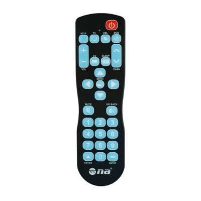 AudioPipe RCN-C931BL NA Video & Audio Easy Use 1 Wipe Universal TV Remote Control for Hospital, School, and Hotel Televisions or DVD Players (Black)