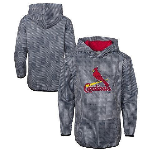 brand new 03f0a 17a71 MLB St. Louis Cardinals Boys' First Pitch Gray Poly Hoodie
