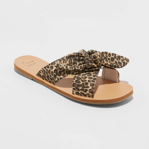 Women's Livia Knotted Bow Slide Sandals - A New Day™ - image 1 of 3