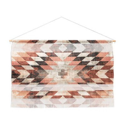 "47"" x 32"" Large Holli Zollinger Native Coral Diamond Fiber Wall Hanging - Deny Designs"