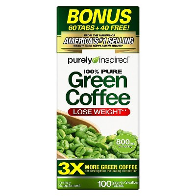 Purely Inspired 100 Pure Green Coffee Bean Dietary Supplement