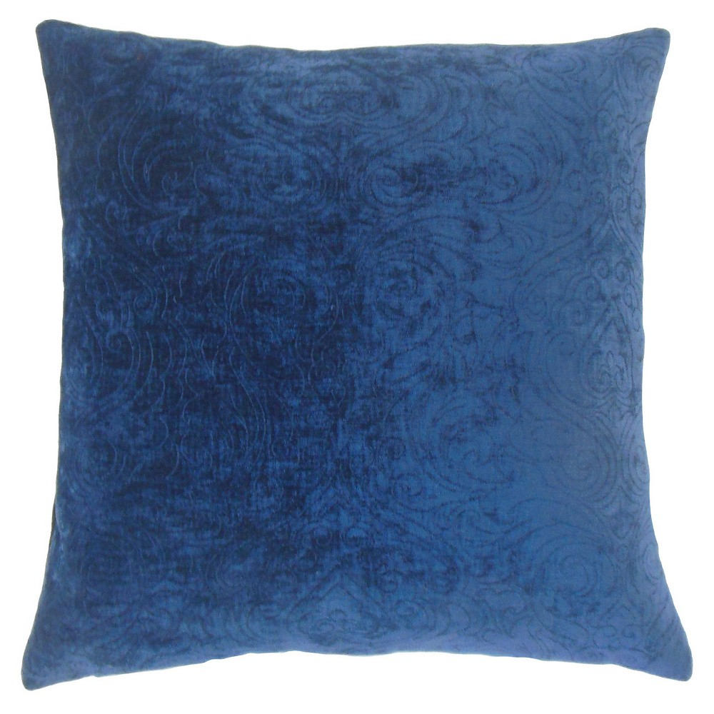 "Image of ""Blue Velvet Square Throw Pillow (18""""x18"""") - The Pillow Collection"""