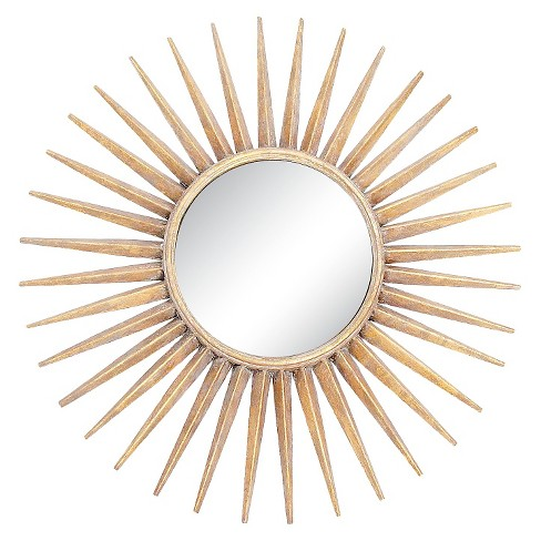 Sunburst Decorative Wall Mirror Gold - Go Home - image 1 of 1