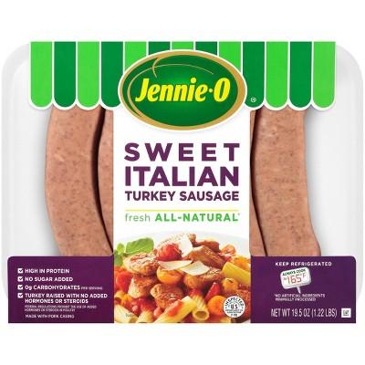 Jennie-O All-Natural Lean Sweet Italian Turkey Sausage - 19.5oz