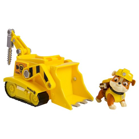 Paw Patrol Rubble's Digg'n Bulldozer Vehicle and Figure - image 1 of 5