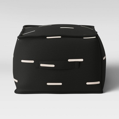 Oversize Stripe Outdoor Pouf Black/White - Project 62™