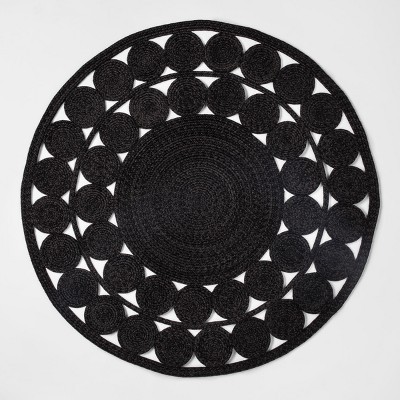 Woven Outdoor Rug - 4' Round - Black - Opalhouse™