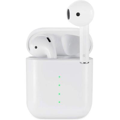 Dartwood True Wireless Earbuds, Portable Splashproof Headphones with Bluetooth Connectivity, Immersive Sound Earphones, Mic & Volume Control (White)