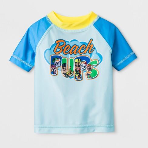 Nickelodeon Paw Patrol Boy Rash Guard Swim Shirt 5T
