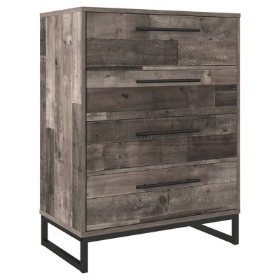 Neilsville 4 Drawer Chest Gray - Signature Design by Ashley