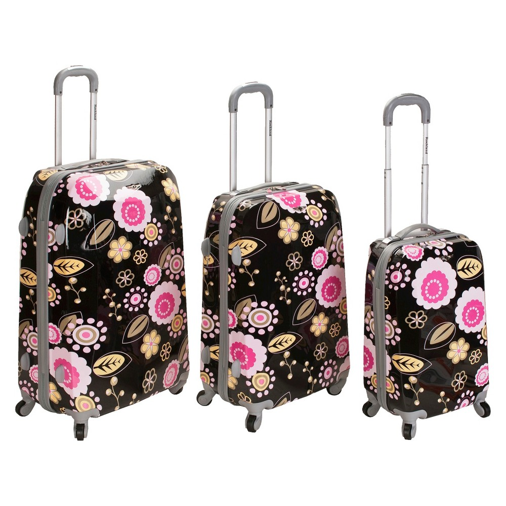 Rockland Vision 3pc Polycarbonate/Abs Spinner Luggage Set - Pucci