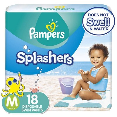 Pampers Splashers Disposable Swim Pants - Size M (18ct)