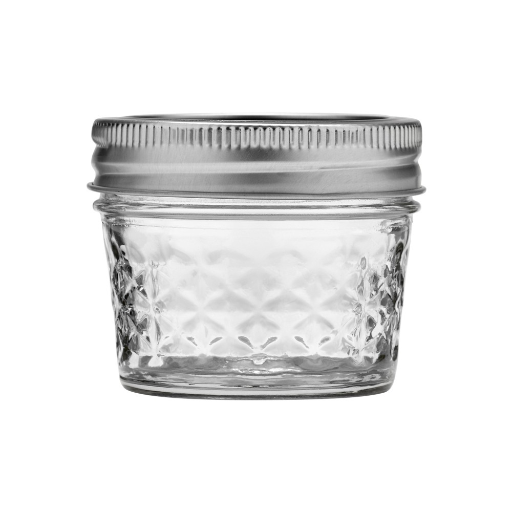 Image of Ball 12ct 4oz Quilted Crystal Jelly Jar with Lid and Band - Regular Mouth