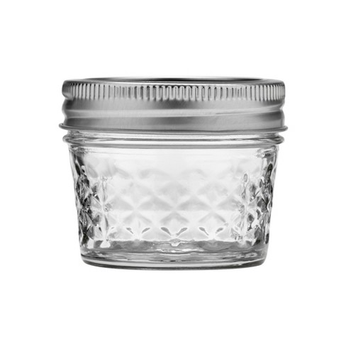 Ball 12ct 4oz Quilted Crystal Jelly Jar with Lid and Band - Regular Mouth - image 1 of 3