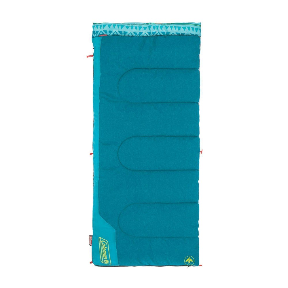 Image of Coleman 50 Degree Youth Sleeping Bag - Turquoise