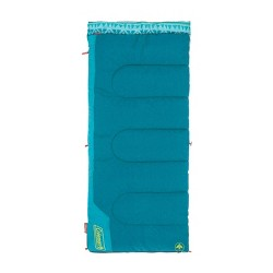 Coleman 50 Degree Youth Sleeping Bag - Turquoise