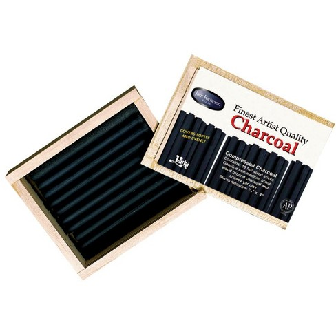 Richeson Extra Smooth Medium Soft Non-Toxic Pressed Charcoal Stick, 4-3/8 x 7/16 in, Black, pk of 10 - image 1 of 1
