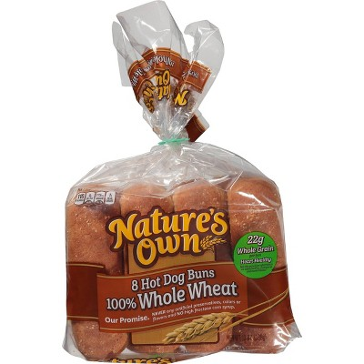 Nature's Own 100% Whole Wheat Hot Dog Rolls - 13oz/8ct