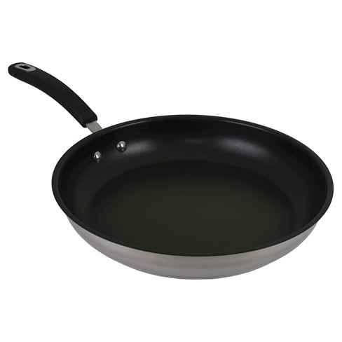 Oneida 12 Inch Stainless Steel Fry Pan With A Non-Stick Interior ... 990f8ca528c0