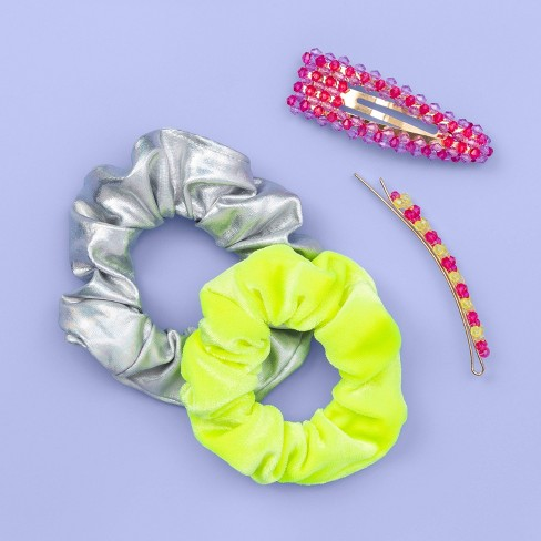 Girls' 4pk Glow in the Dark Hair Clip and Twister - More Than Magic™ - image 1 of 3