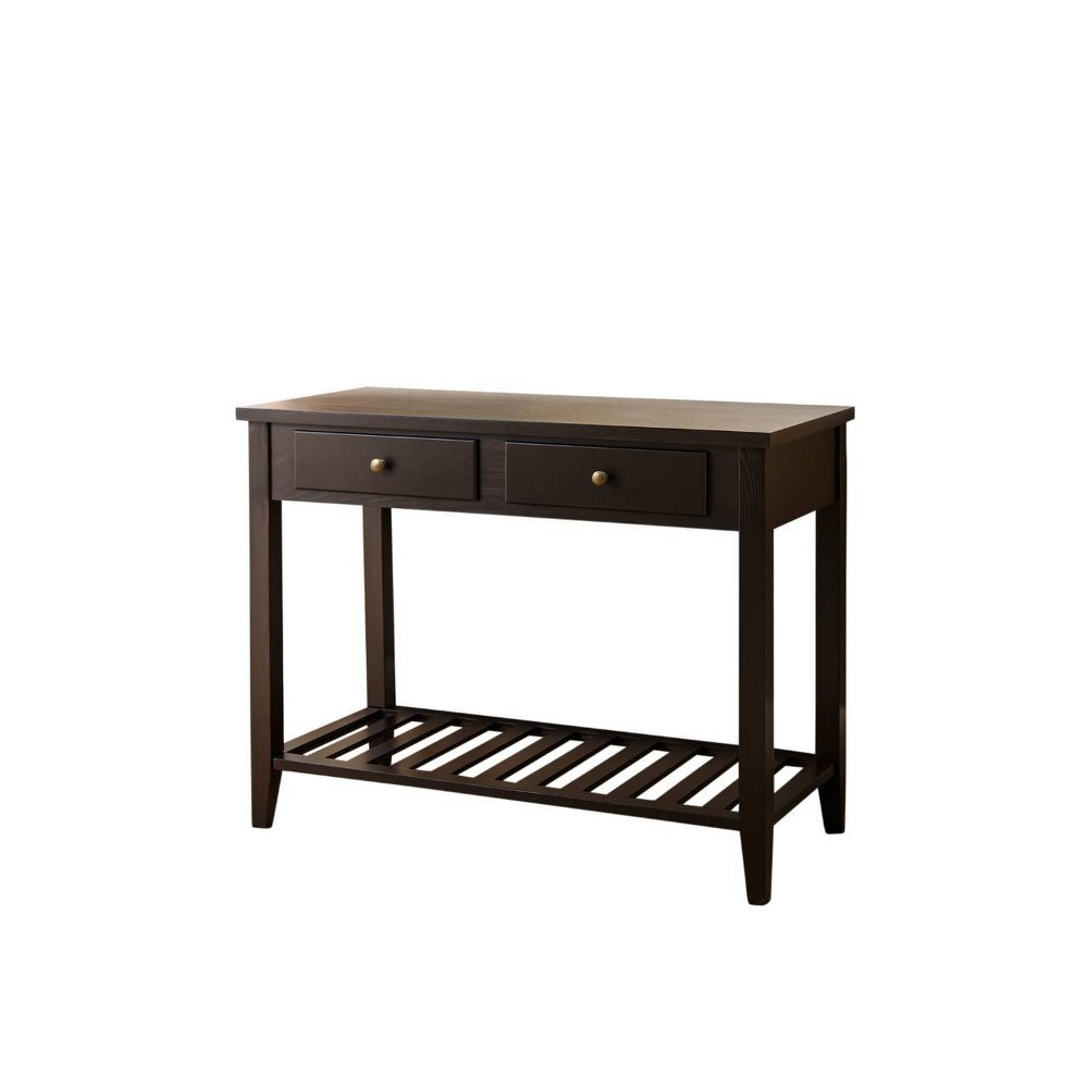 Owen Wood Sofa Table Espresso Black - Abbyson Living, Espresso Brown