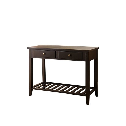 Owen Wood Sofa Table Espresso Black Abbyson Living